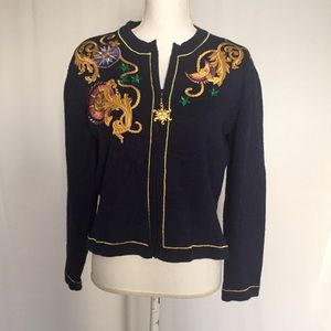 Susan Bristol}  Vintage Embroidered sweater